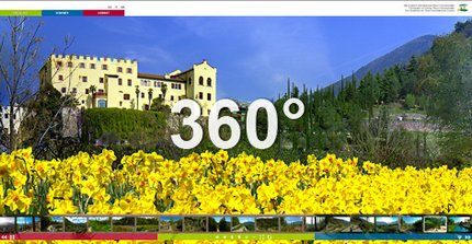 360 degrees of spring in Trauttmansdorff